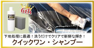 車のコーティング前の下地処理に最適!洗うだけで水垢・シミ・ブレーキダストも落とす!脱脂もできるクイックワン・シャンプーが人気6位