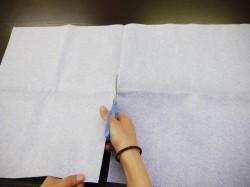 マイクロファイバーセームは約70cm×40cmと大判なので細かな個所の拭き上げに手ごろなサイズに切って使用することもできます