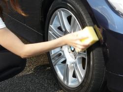 車のガラスコーティング  ハイブリッドナノガラス コーティング前処理 タイヤコーティング ベーシック3