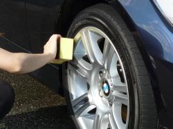 車のガラスコーティング  ハイブリッドナノガラス コーティング前処理 タイヤコーティング ベーシック4