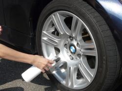車のガラスコーティング  ハイブリッドナノガラス コーティング前処理 鉄粉除去2