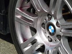 車のガラスコーティング  ハイブリッドナノガラス コーティング前処理 鉄粉除去3