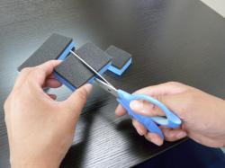 ガラスコーティング W-SHIELD ベースコートSHIELD1の施工 スポンジの注意点1