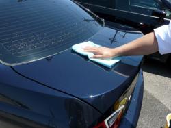 ガラスコーティング W−SHIELD シミ・固着汚れのメンテナンス BMW3シリーズ9