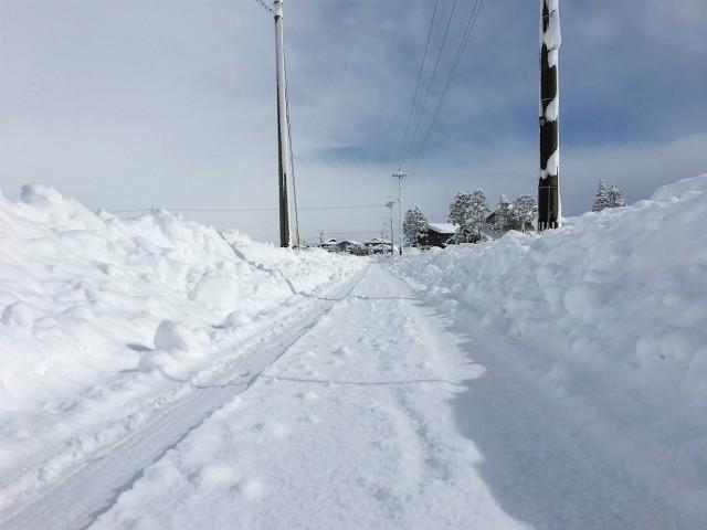 雪は白くてきれいで大好き。雪景色も見てる分には情緒があってすごく好きです。こんな風景なんて典型的な雪国の風景ですね。
