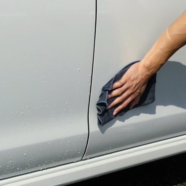 親水コーティングは洗車後の拭き上げも楽々