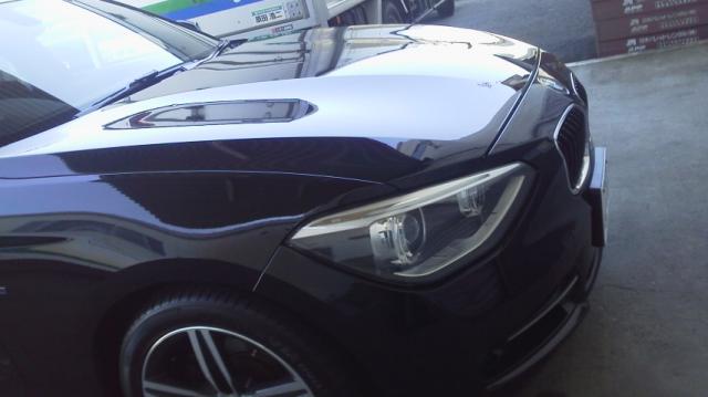 人気の車の硬化系ガラスコーティング/D・アーマーをBMW/120iMスポーツに施工したコーティング評判・評価・おすすめ・口コミ