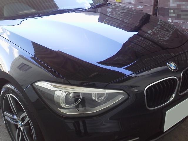 車の艶・防汚・耐久に優れた人気カーコーティング/ゼウスαをBMW/120iMスポーツに施工した評判・評価・おすすめ・口コミ