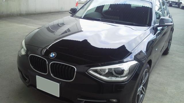 車のコーティングの下地やシミ・デポジットの除去に最適なコーティングコンディショナーをBMW/120iMスポーツに施工した評判・評価