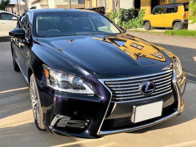 車の艶・被膜感・超撥水・防汚・耐久に優れたプロ用硬化系コーティング剤をレクサス LS 600hへの施工例やレビュー・口コミ・評判・評価