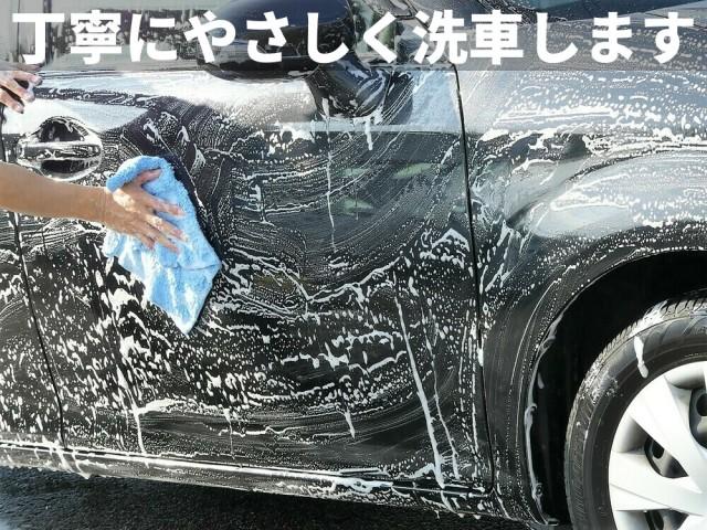 ムートンクロスでの手洗い洗車は、ボディに残った鉄粉や汚れをやさしく確実に落とします