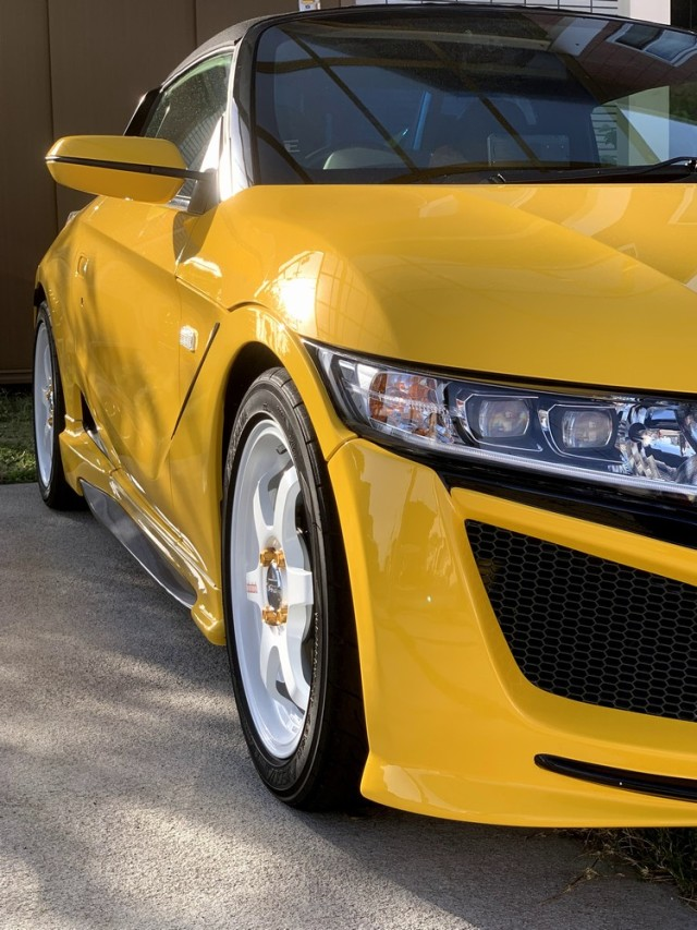 車のコーティングの下地やシミ・デポジットの除去に最適なコーティングコンディショナーをホンダ/S660に施工した評判・評価