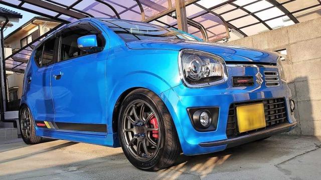 耐久に優れた車のガラス撥水コーティング/スーパービュークリアをスズキ アルトワークスに施工した評判・評価・おすすめ・口コミ・人気