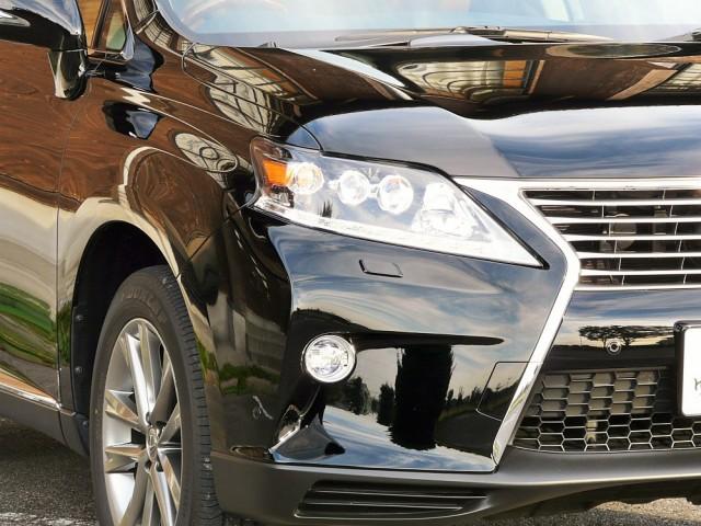 レクサスRXハイブリッドに驚異的なキズ消し・傷の隠ぺい性能を持つハイブリッドナノガラスの車用コーティング/スーパーゼウスを施工