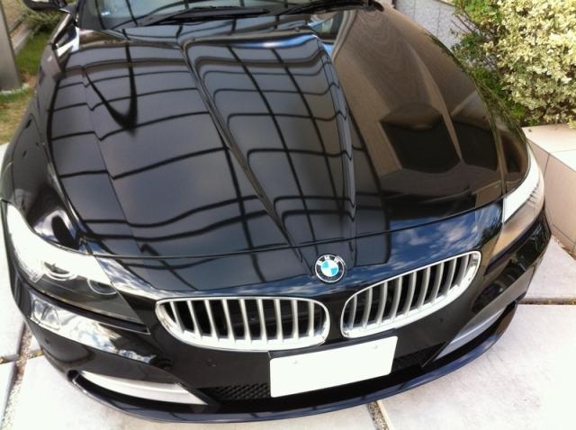BMWZ435iにコーティングコンディショナーを施工したコーティング効果・評判・レビュー・口コミ