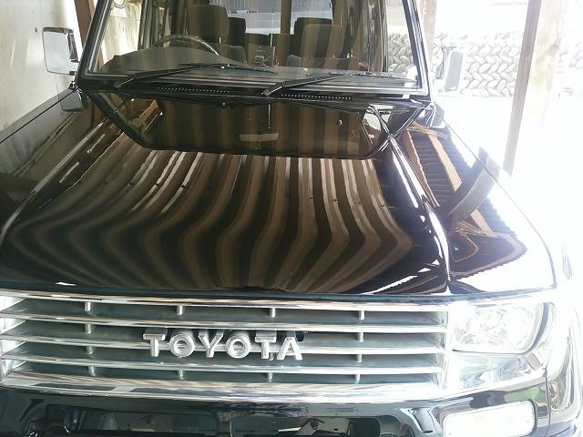 トヨタ 78プラドに車の艶・光沢性能に優れたコーティングスーパーゼウスを施工した評判・人気・評価・おすすめ・レビュー・口コミ