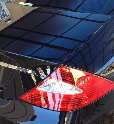 ガラスコーティングのハイブリッドナノガラスのゼウスを施工したメルセデスベンツ クラス550