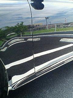 ガラスコーティングのハイブリッドナノガラスゼウスを施工されたトヨタ マークX(5年前)