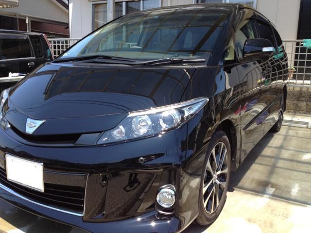 トヨタ エスティマをコーティング施工車・高級車に最適な中性カーシャンプー「マイルドケアシャンプー」で洗車したコーティング評価・レビュー・口コミ