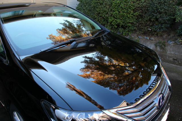 レクサスHS250hに深い艶と光沢が魅力のガラスコーティング「ゼウス」を施工したコーティング評価・レビュー・口コミ
