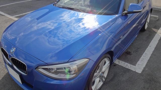 BMW318ci-Mスポーツに2014福袋商品の新ガラスコーティングHG-14010を施工したコーティング評価・レビュー・口コミ