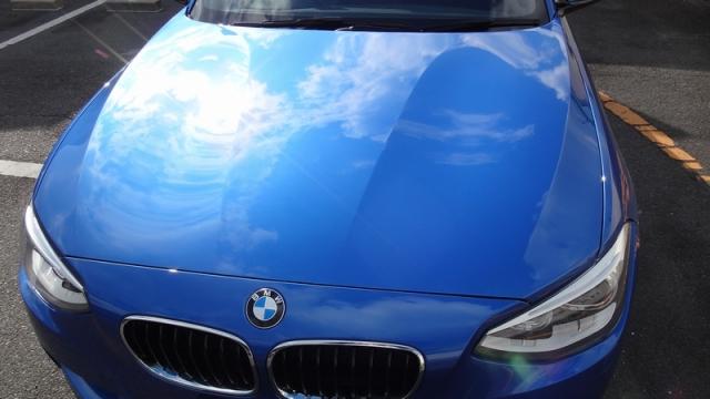 BMW 116iMスポーツに2014福袋商品の新ガラスコーティングHG-14010を施工したコーティング評価・レビュー・口コミ