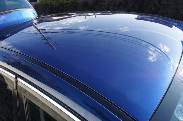 スバル レガシィツーリングワゴンにハイブリッドナノガラス福袋2014限定商品(新型ガラスコーティングHG-14010)をブレンドコーティングで下地を作ったトップコートとして施工したコーティング評価・レビュー・口コミ