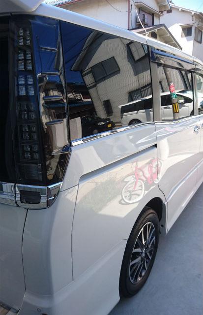 車の艶・防汚・耐久に優れたコーティング/ゼウスαをトヨタ/VOXYに施工した評判・人気・評価・おすすめ・レビュー・口コミ