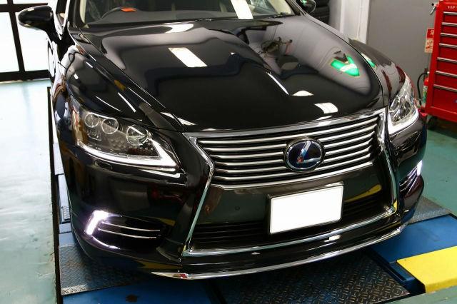 車の艶・防汚・耐久に優れた人気コーティング/ゼウスαをレクサス/LS600hに施工した評判・評価・おすすめ・口コミ