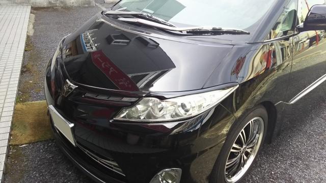 評判・人気の洗車傷消し効果に優れたカーコーティング/スーパーゼウスをトヨタ/エスティマに施工した評価・おすすめ・レビュー・口コミ