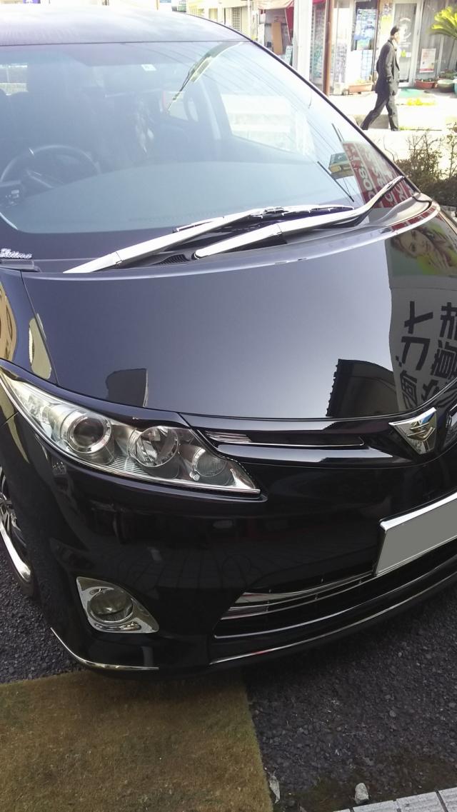 車のコーティングの下地やシミ・デポジットの除去に最適なコーティングコンディショナーをトヨタ/エスティマに施工した評判・評価・おすすめ・口コミ