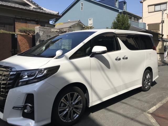 人気の車の硬化系ガラスコーティング/D・アーマーをトヨタ/アルファードに施工したコーティング評判・評価・おすすめ・口コミ