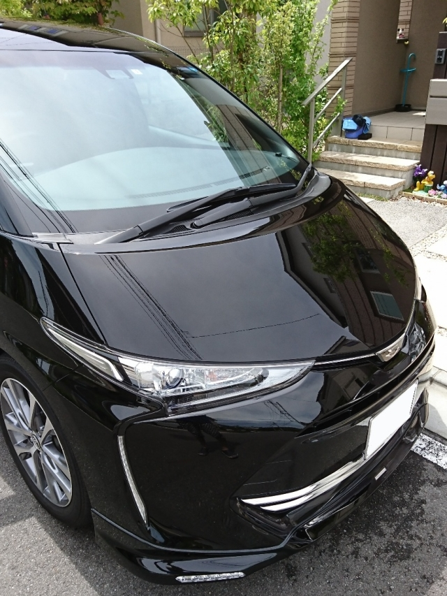 トヨタ/エスティマに深みのある艶で大人気のカーコーティング/ゼウスを施工した評判・評価・おすすめ・口コミ