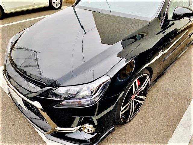 車のコーティングの下地やシミ・デポジットの除去に最適なコーティングコンディショナーをトヨタ/マークX G'Sに施工した評判・評価