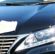 レクサスの人気SUVRXハイブリッドにボディガラスコーティング剤として人気・評価の高いスーパーゼウスを施工して最後に拭き上げ