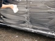 クイックワンシャンプーは非常に泡立ちと泡もちにすぐれたカーシャンプーですので少量でも広範囲を洗車することができます