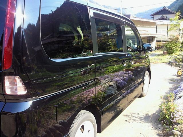 ガラスコーティング剤 車のコーティング 日産 セレナC25