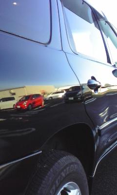 ガスコーティングのハイブリッドナノガラスのゼウスを施工した車