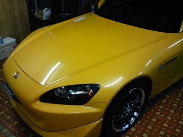 ガラスコーティングのハイブリッドナノガラスゼウスを施工したホンダ S2000
