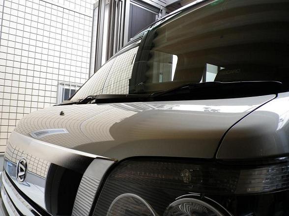 ガラスコーティングのハイブリッドナノガラスゼウスを施工したダイハツ アトレーワゴン