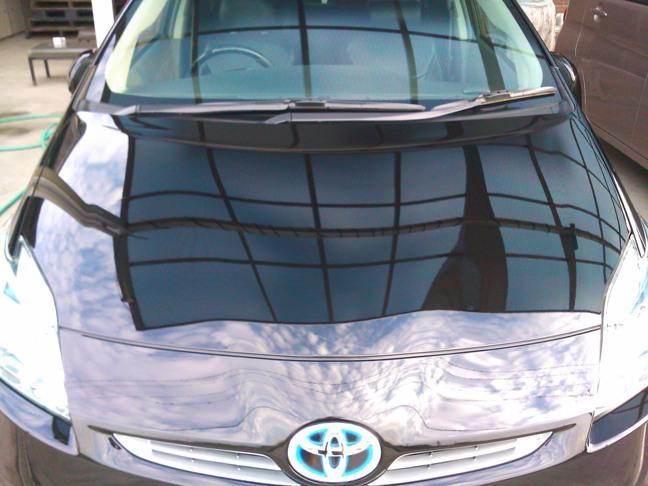 ガラスコーティングのハイブリッドナノガラスゼウスを施工したトヨタ