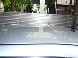 ガラスコーティングのハイブリッドナノガラスW-SHIELDを施工したホンダフィット