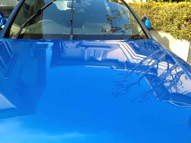 ガラスコーティングのハイブリッドナノガラスのゼウスを施工したAudi A4 Avant S-line