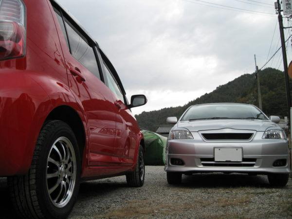 ガラスコーティング施工例 トヨタ パッソ レッド ランクス