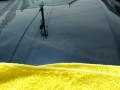 高級マイクロファイバータオル【エキスパート】を使った洗車後の拭き上げ検証(拭きスジのアップ)