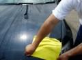 高級マイクロファイバータオル【エキスパート】を使った洗車後の拭き上げ検証(拭き終わり)